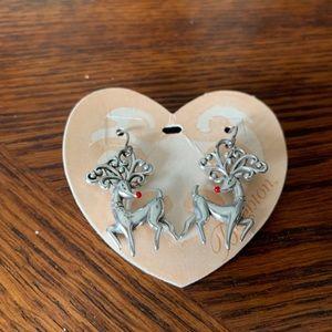 Brighton Reindeer Earrings NWT